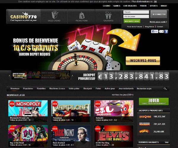 Avis Casino 770 : peut-on vraiment faire des gains avec ce casino ?